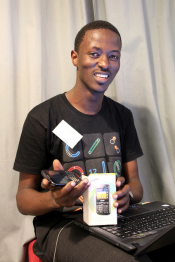 Thomson Lutta won a Samsung smartphone by answering the mobile developer questionnaire