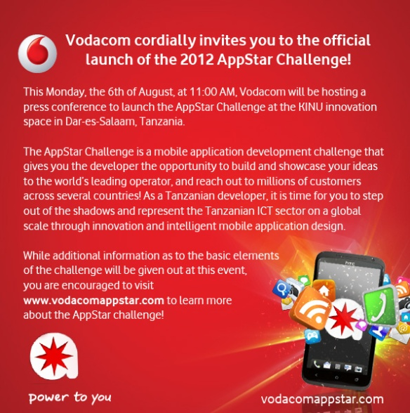 Invitation to AppStar launch