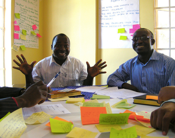 Having fun and brainstorming in the Iringa Living Lab workshop, click to see all photos!