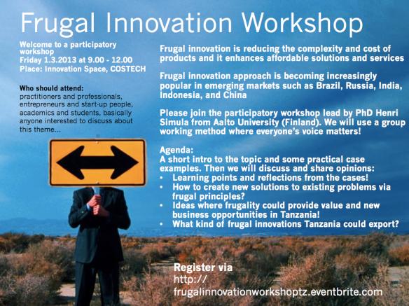 Download invitation to Frugal Innovation Workshop (pdf)