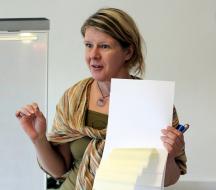 Workshop facilitator Minna Takala, Aalto University