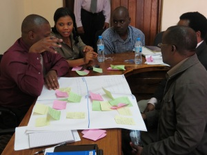 Participants from MUST in Mbeya discussing about their ideas